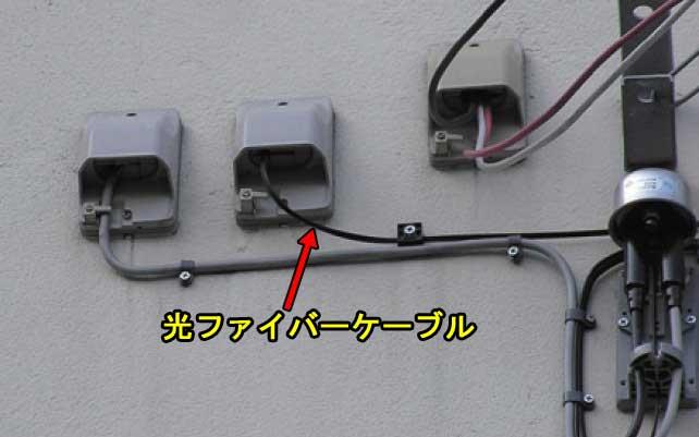電話の配管から引き込み