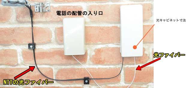 NTTとSo-netの両方の工事が終了したあとの家の外壁