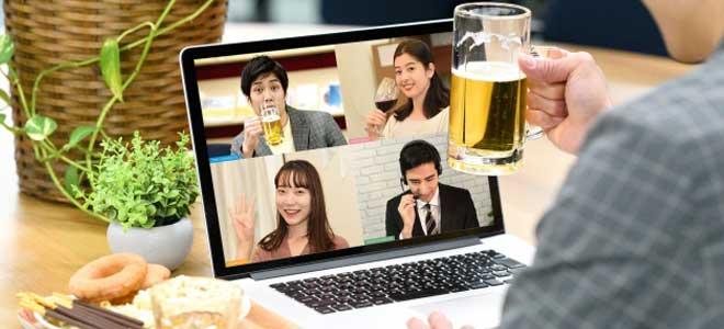 Wi-Fiでオンライン飲み会