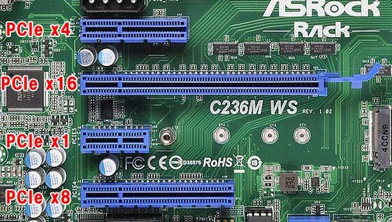 10G対応LANカードが使えるPCIeスロット