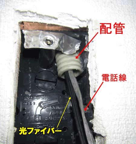 電話の配管