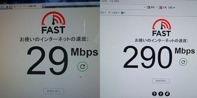 無線と有線で速度測定の結果が変わる